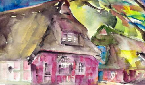 Aquarell-Exkursion durch Worpswede
