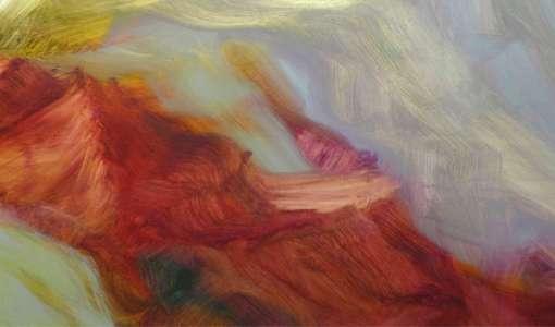 Das Alte und das Neue - abstrakte Landschaftsmalerei