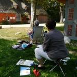 Sommerakademie Worpswede, Fotokurse, Fotoworkshops, Malreisen, Malkurse, Struktur malen, Sonne